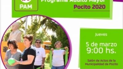 Lanzamiento Programa Adulto Mayor POCITO 2.020