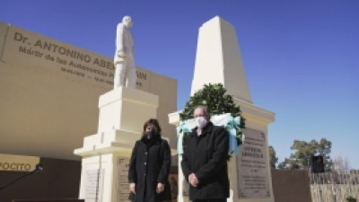 En el Día de Aniversario de Pocito hubo un homenaje en el Monumento a Antonino Aberastain